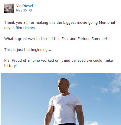 Facebook Lessons with Vin Diesel