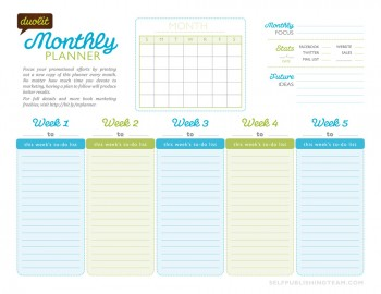 The Author Monthly Planner: A Freebie to Organize Your Writing and ...